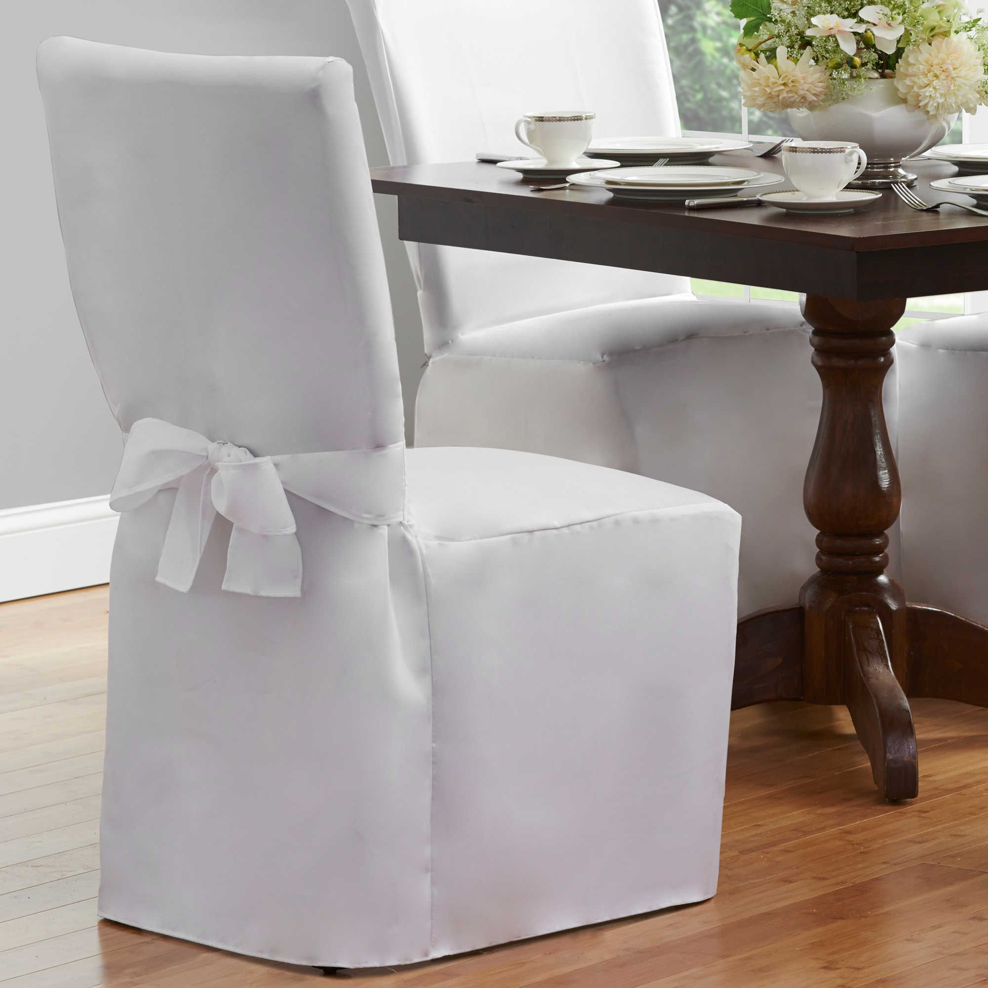 Dining Room Chair Cover in White Dining room chair