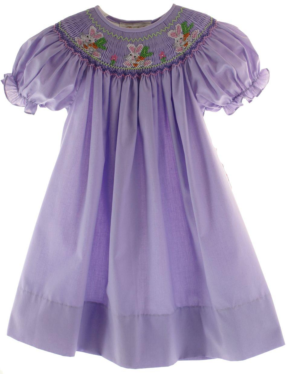 DESIGNER SMOCKED GIRLD DRESSES