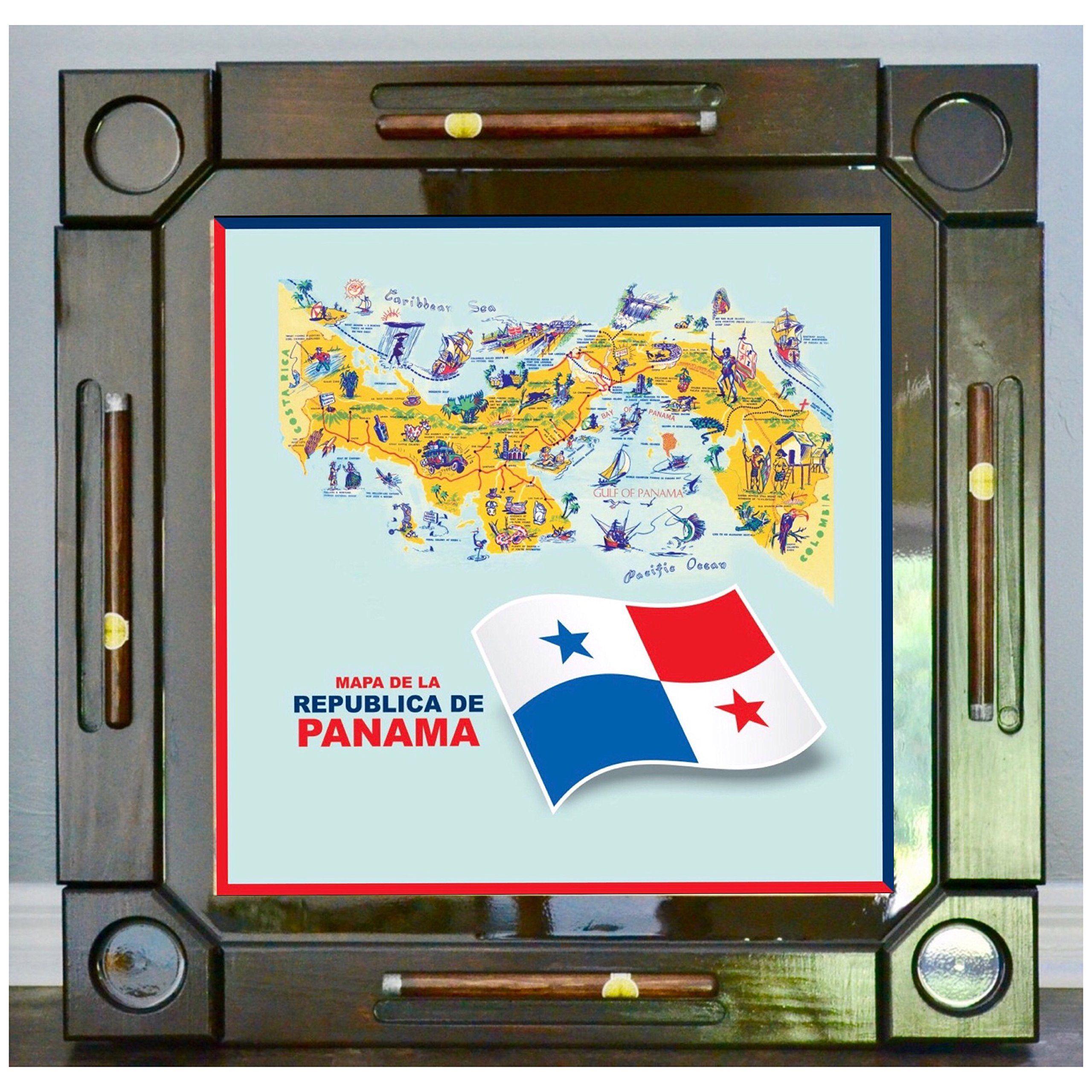 Wooden/wood Dominoes/domino Table/mesa Custom Made Panama Flag And