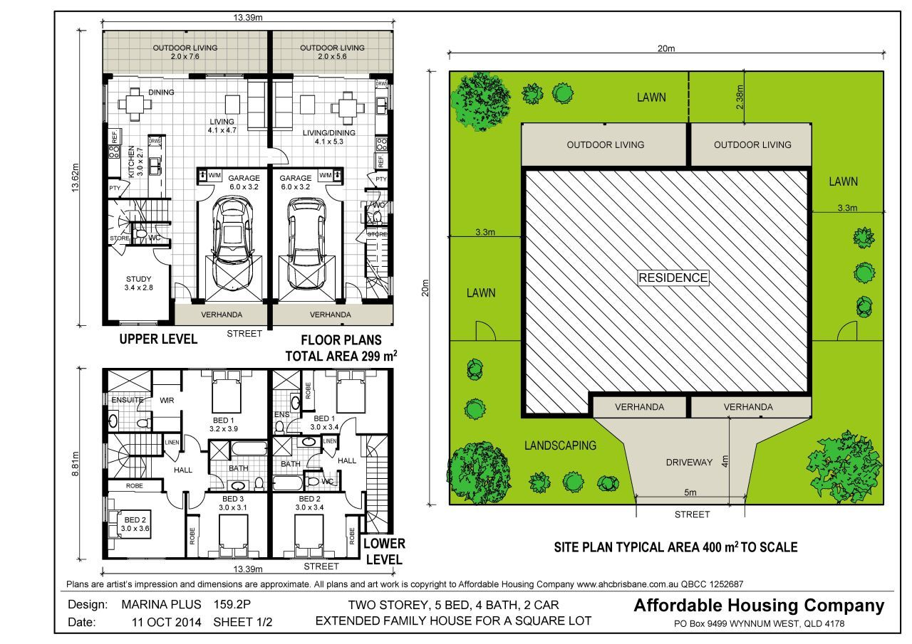 Dual living house designs google search dual for Extended family house plans