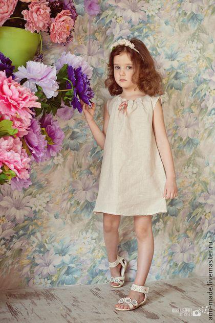 Платья льняные для девочек