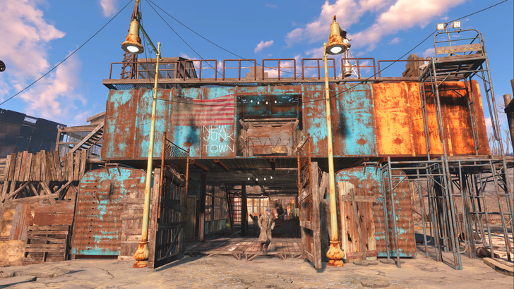 new junk town fallout 4 starlight drive in gaming pinterest