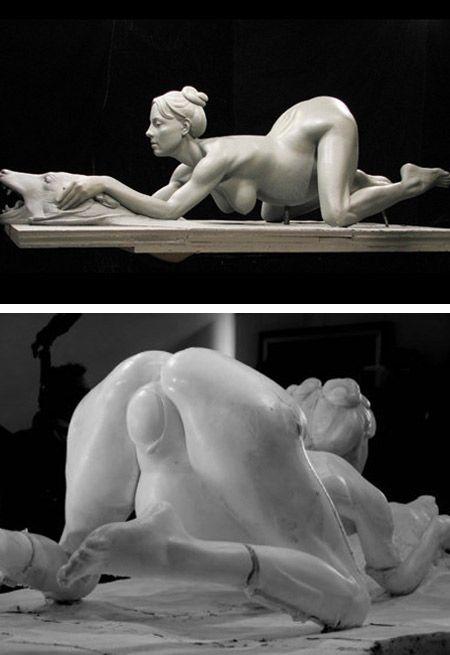 Britney spears sculpture