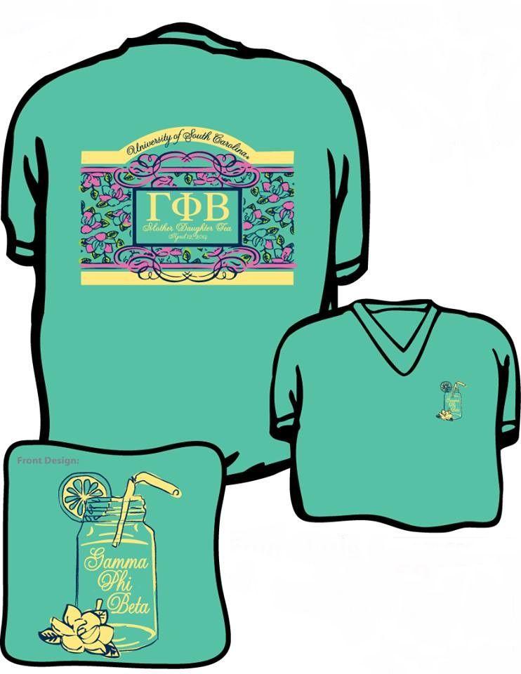 Spring Parent's Weekend 2014 Mother-Daughter Tea  shirt. U of SC Gamma Phi Beta
