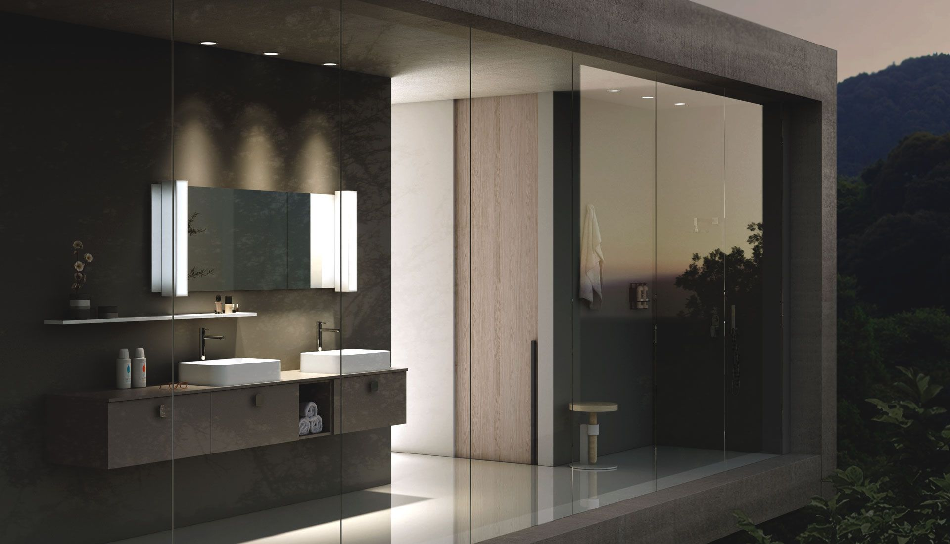Puntotre Bathrooms Manufactures Bathroom Furniture Solutions And Projects Tailored To The Decor Of Modern Design