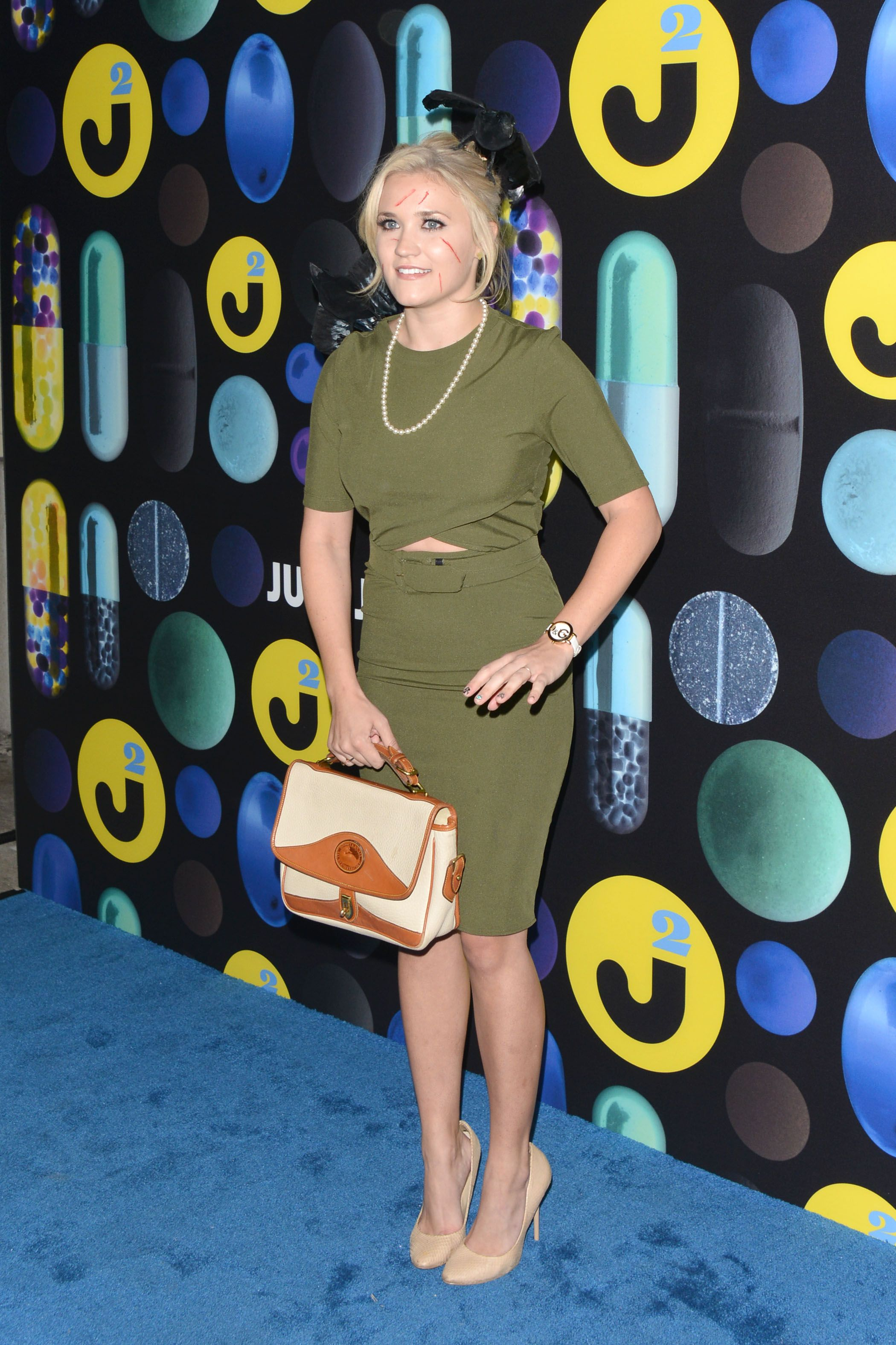 Emily Osment attends the Just Jared Halloween Party at No Vacancy ...