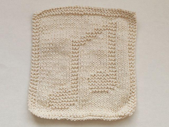 Music Notes Dishcloth - knitted..... | Knitting Wash cloths ...