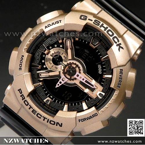 Casio G-Shock X-Large Rose Gold Black 200M Resin Watch GA-110GD-9B2 ... 2c1c165bd279