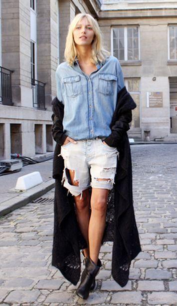 Strike A Pose. Anja Rubik | Paris Fashion Week. In front of Isabel Marant 2011.  kaiiwong