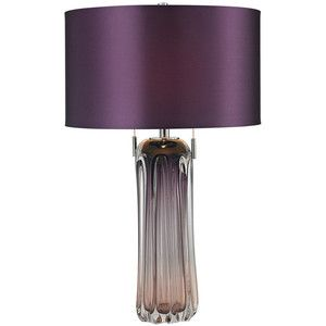 Purple Table Lamp Mesmerizing 2Light Purple Table Lamp  Home Decor  Pinterest  Grey Living Decorating Design