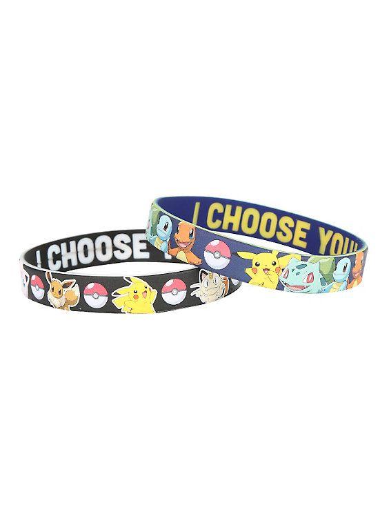 Pokemon Characters Rubber Bracelet Pack