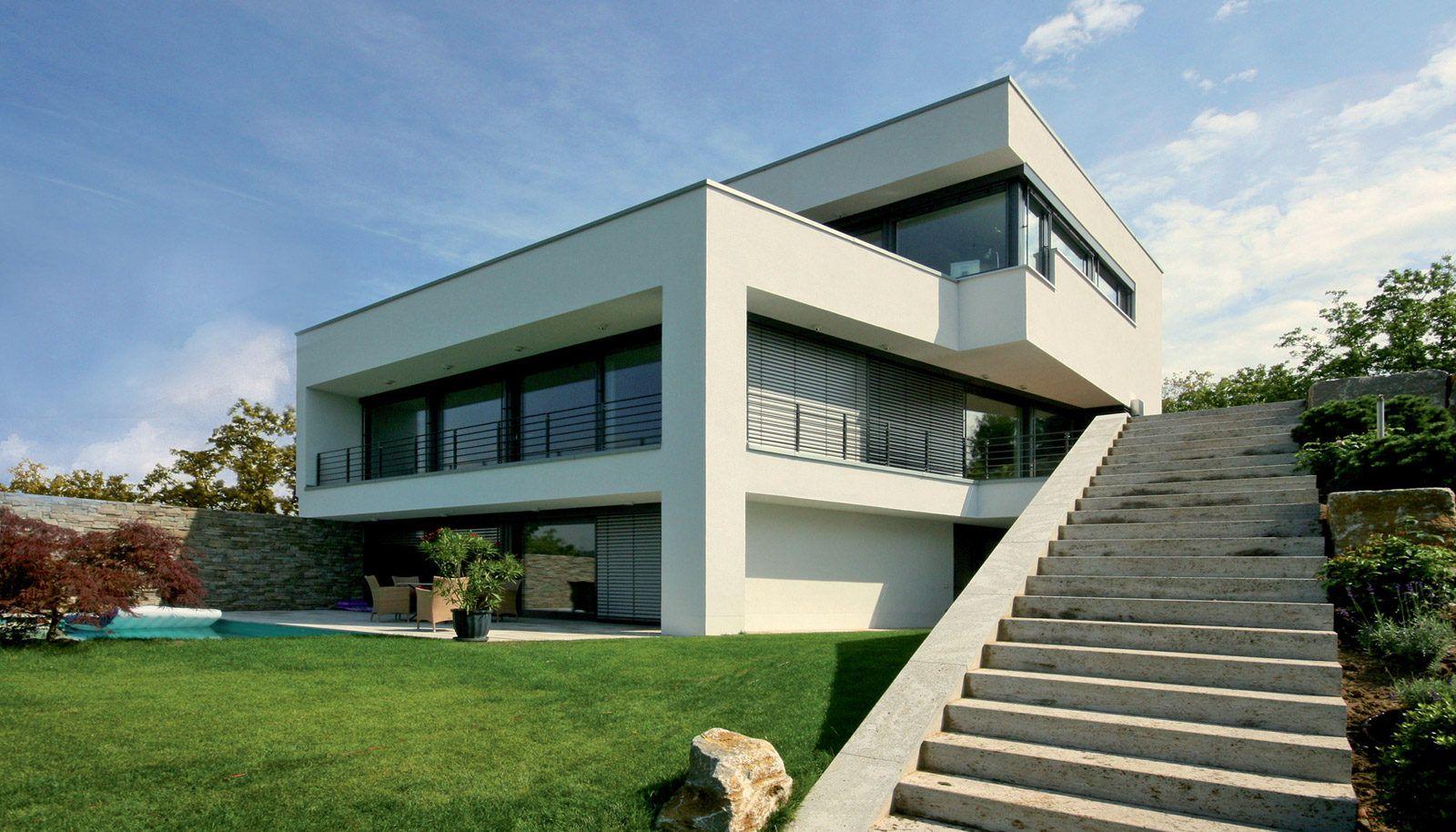 modernes hanghaus in wiesbaden bauen. individuelle planung vom ... - Moderne Haus Architektur