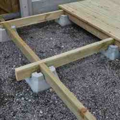 Wrekin concrete products decking block diy pinterest Floating deck cinder blocks