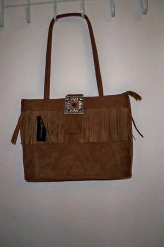 New Bertina Collection Brown Suede Fringes Handbag With Tag | eBay $8.95