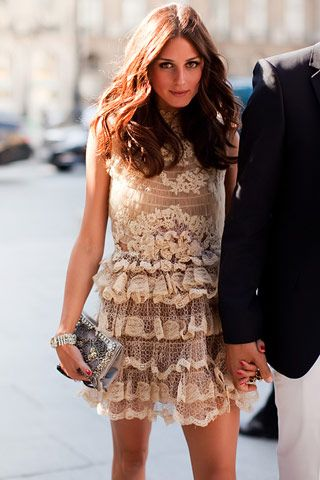 Nude Lace Dress, #OliviaPalermo in Valentino