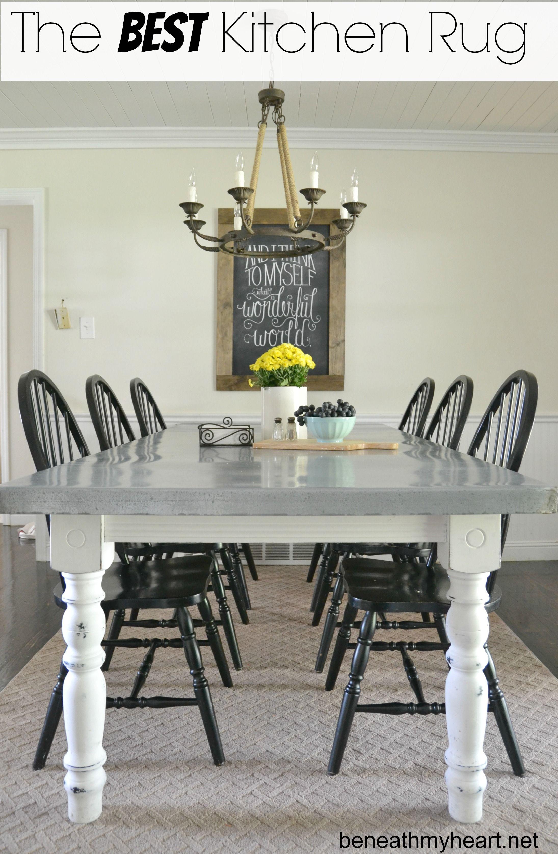 My Favorite Kitchen Rug (bound carpet | Painted kitchen ...