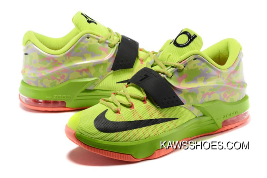 new arrival 24dd0 d1f17 New Nike Kd 7 Easter Liquid Lime Vapor Sunset Green Black Shoes TopDeals