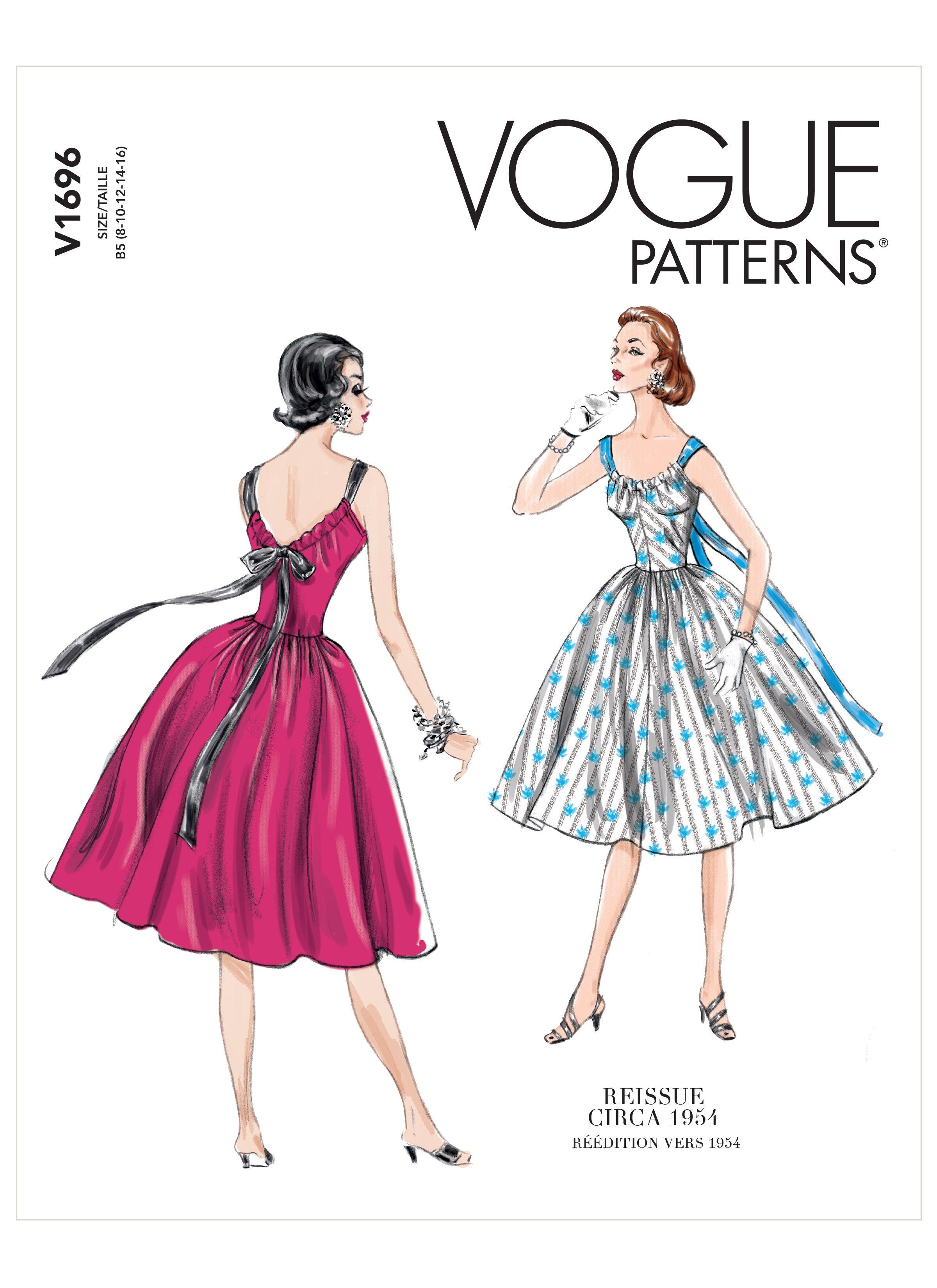 V1696 Sewdirect In 2020 Vogue Patterns Vogue Dress Patterns Vintage Vogue Patterns