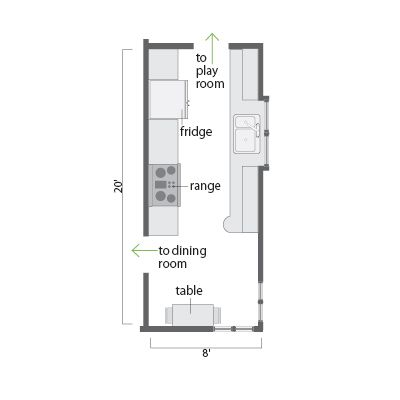 Small Kitchen Floor Plans Best