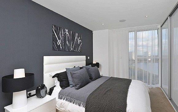 Decoração de quartos em tons de cinza decoração  ~ Quartos Em Branco E Cinza
