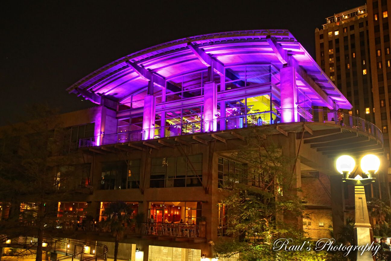 www.VisionLoungeTx.com #VisionLoungeTX  Beautiful Venue on San Antonio Tx With A big balcony on down town next to the Riverwalk Up Lights
