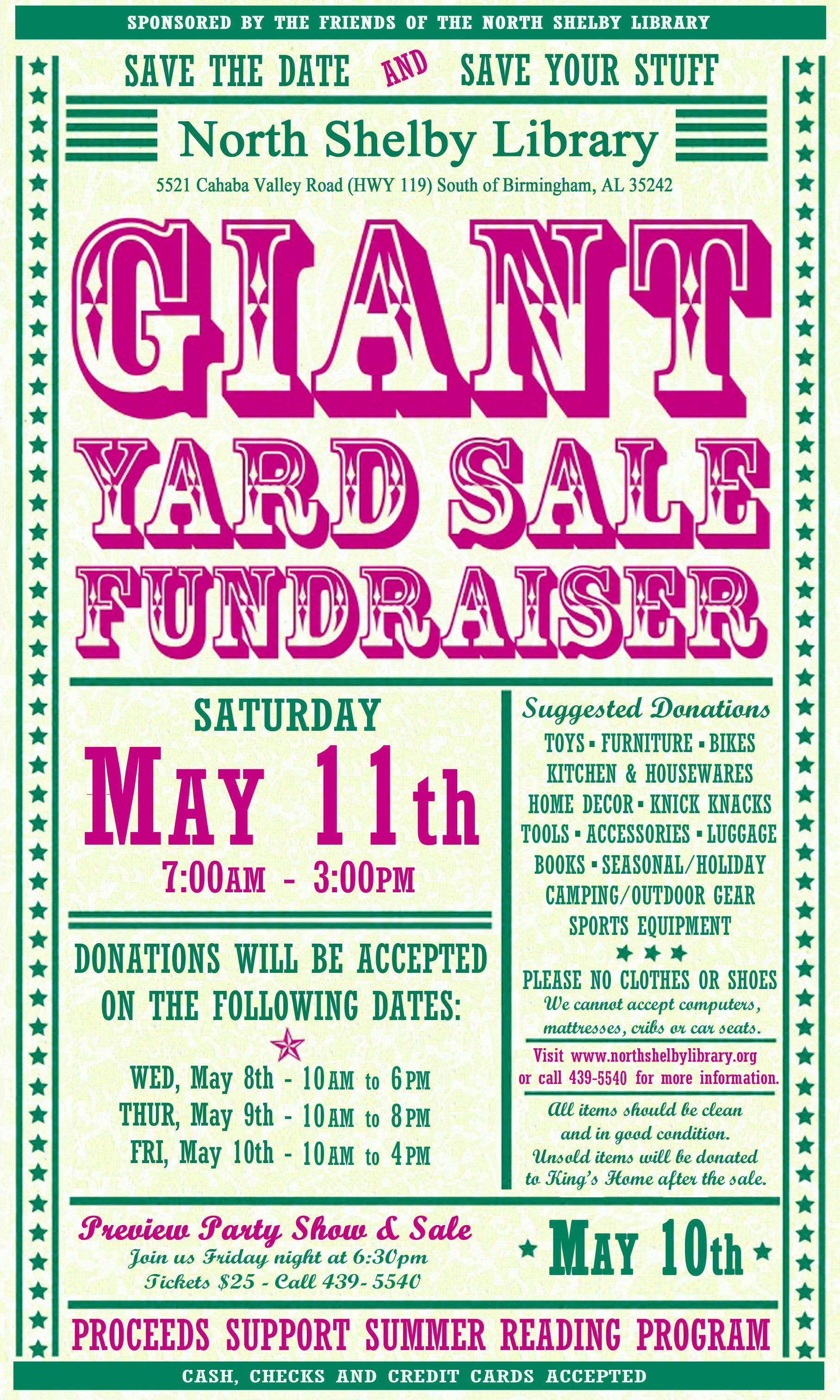 yard sale flyer examples