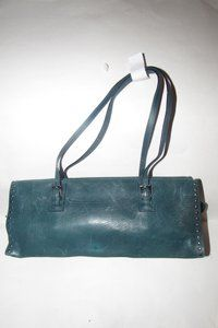 e9fbffffa0d668 Bally Mint Condition Style Unusual Style Satchel in teal blue leather with  chrome studded accents