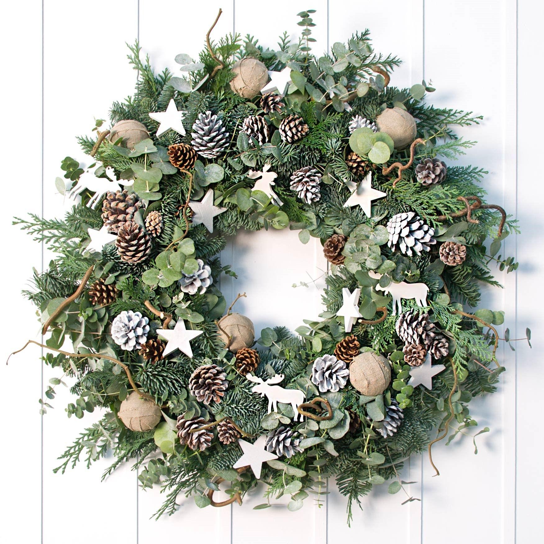 Philippa Craddock S Nordic Wreath Christmas Wreaths Nordic Christmas Christmas Decorations