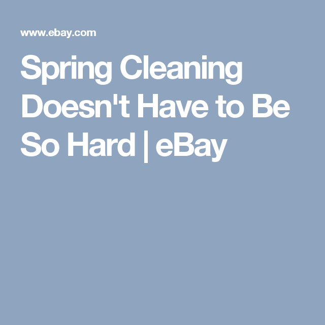 Spring Cleaning Doesn't Have to Be So Hard | eBay