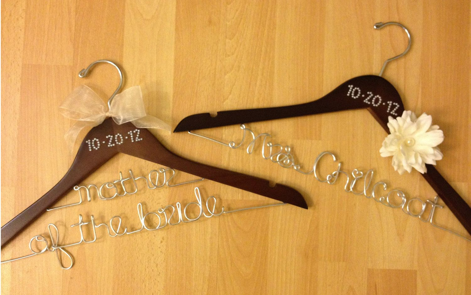Personalized Wooden Hangers for Wedding Dress Wedding