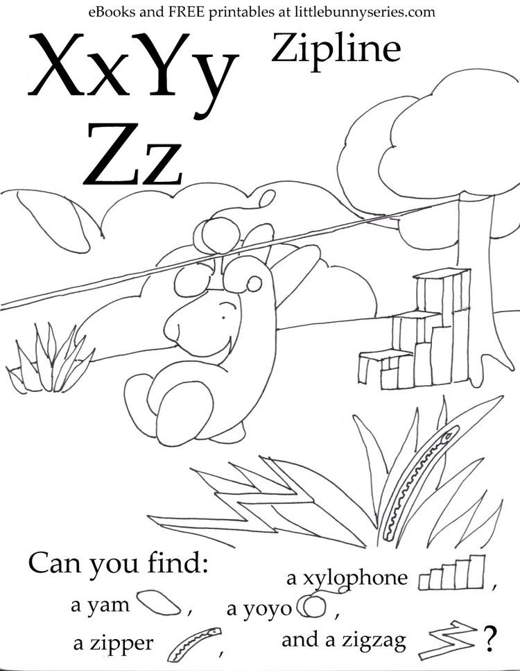 Letters X,Y,Z Seek and Find PDF (With images) Printable