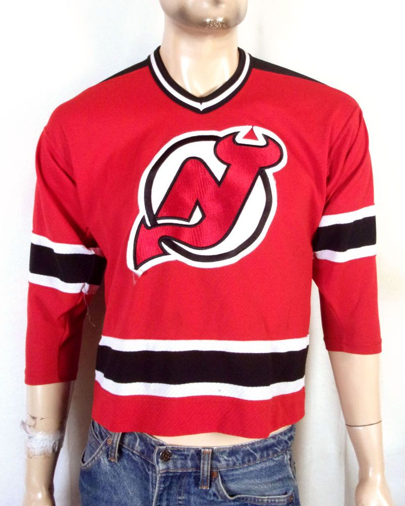 vtg 90s CCM New Jersey Devils NHL Hockey Jersey Youth L XL Adult XS ... 04fc7f623