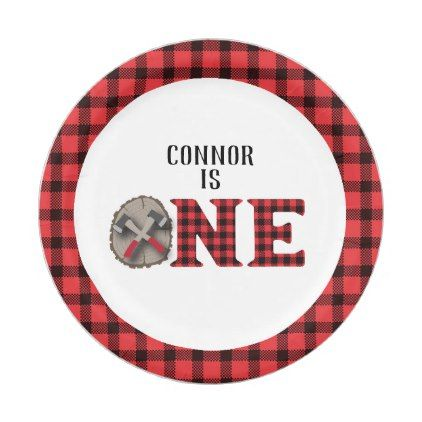 Lumberjack First Birthday Paper Plates - kitchen gifts diy ideas decor special unique inidual customized  sc 1 st  Pinterest & Lumberjack First Birthday Paper Plates - kitchen gifts diy ideas ...