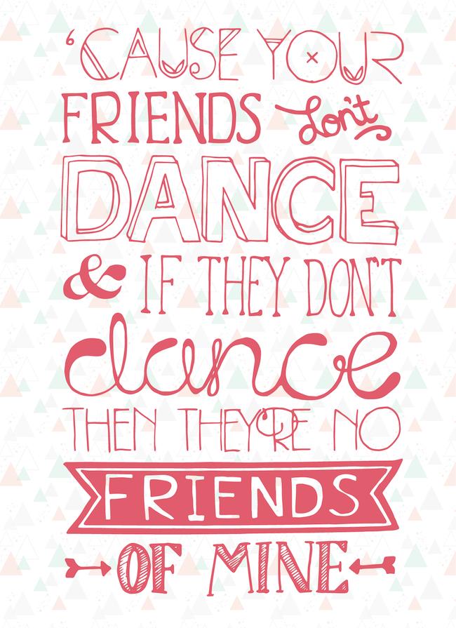 oh hello designer typographic lyrics The Safety Dance men
