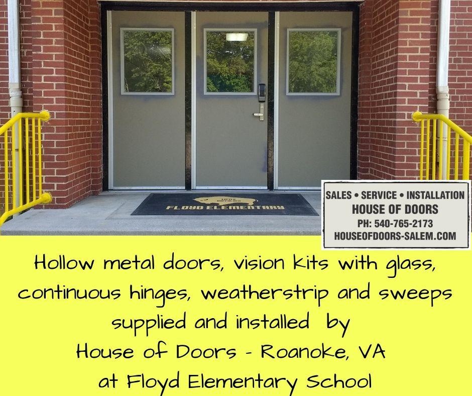 Pin By House Of Doors Roanoke Va On Various Completed Projects Hollow Metal Doors Metal Door Installation