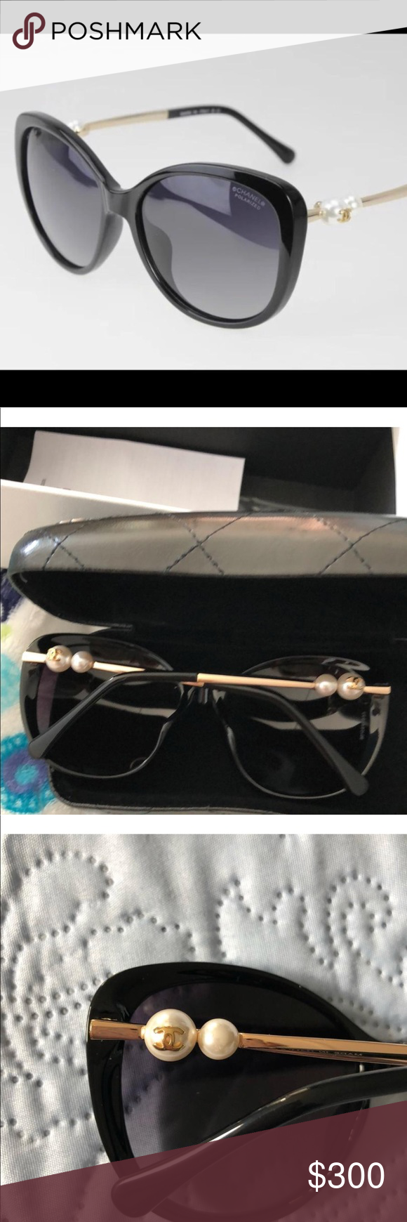 f2591286a48 NWT Chanel pearl collection sunglasses box case Brand new never used sunglasses  CHANEL Accessories Sunglasses