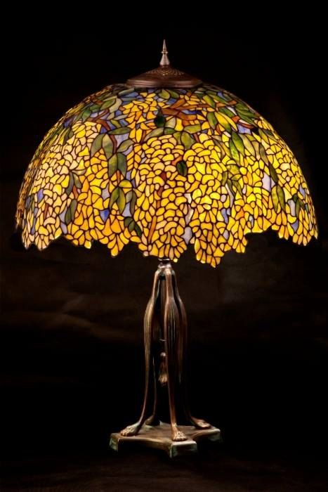 Stained Glass Table Lamp Laburnum Tiffany Stained Glass Etsy Stained Glass Table Lamps Tiffany Stained Glass Tiffany Table Lamps