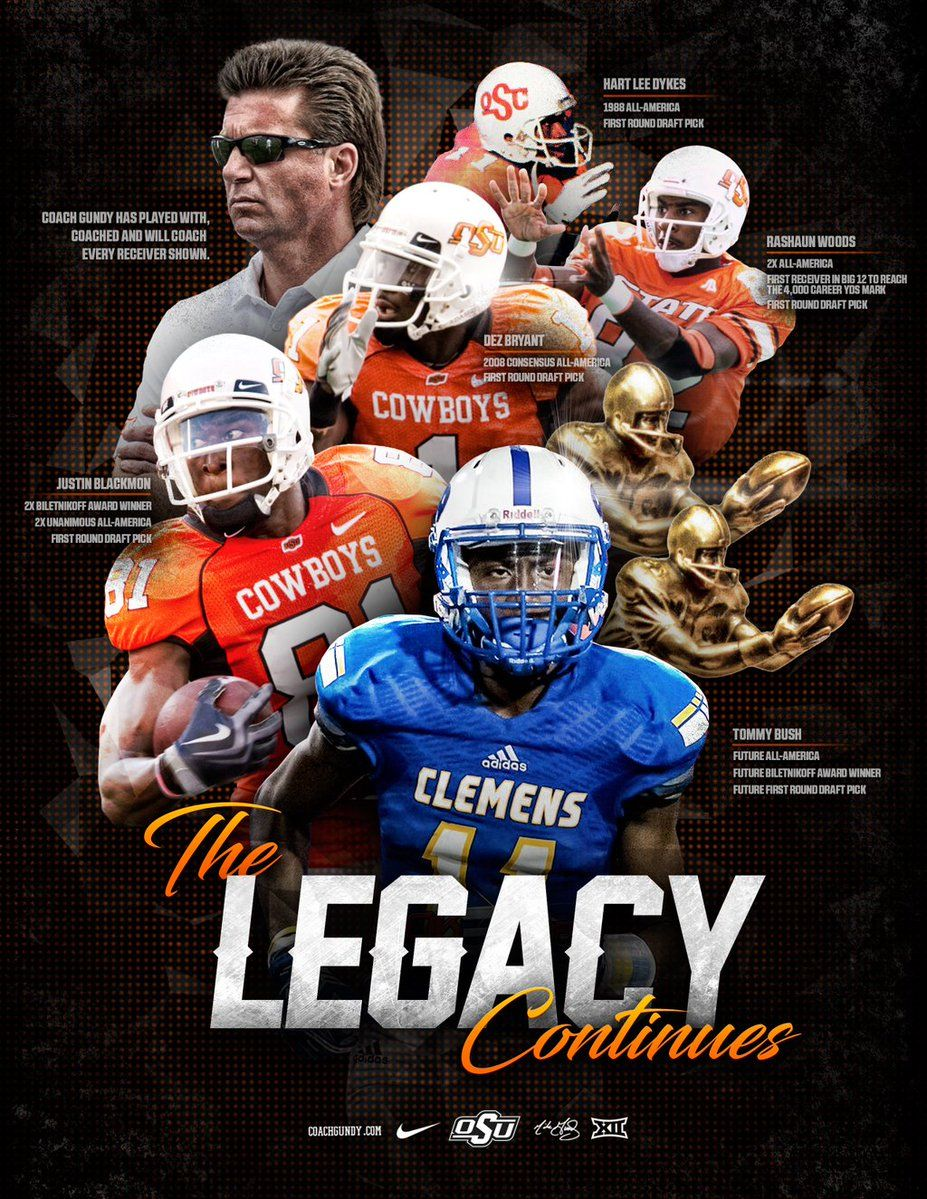 Oklahoma State Football design, Sports design, Football