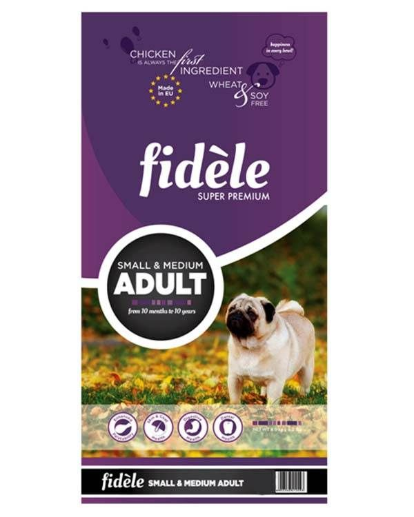 Fidele Adult Dog Food Small And Medium Breed 4 Kg Dog Food