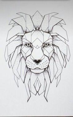 Résultats De Recherche D Images Pour Geometric Lion Drawing