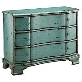 Antique Blue Dresser From HH Gregg