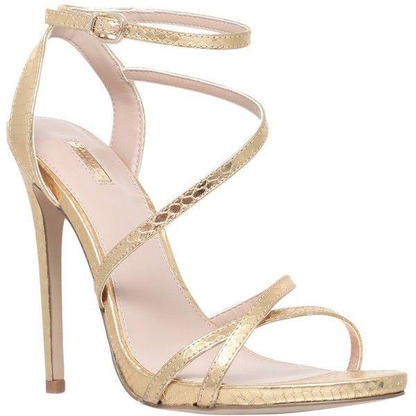 6e8d56c8b46 Carvela Georgia Leather Stiletto Strappy Sandals (350 RON) ❤ liked ...