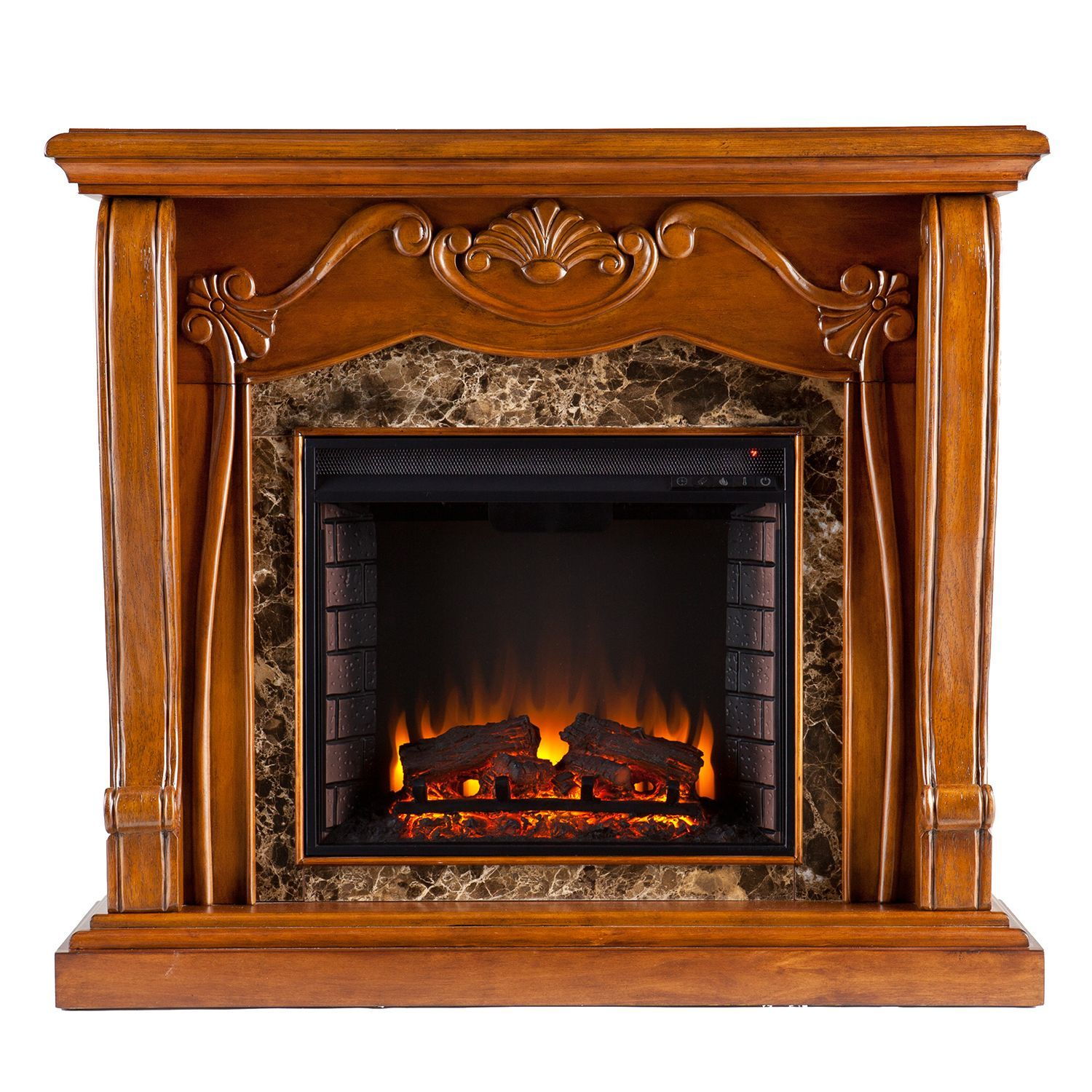 Marlena Electric Fireplace Walnut