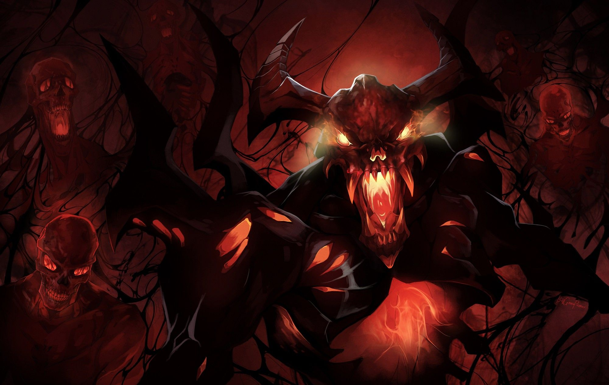 Dota  Shadow Fiend Valve Video Games Wallpaper