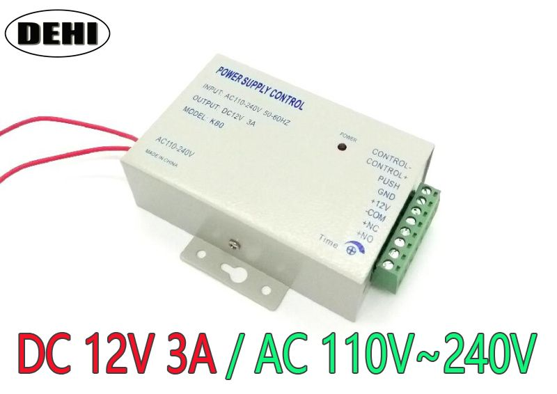 Superior Quality Dc 12v New Door Access Control System Switch Power Supply 3a Ac 110 240v Access Control Access Control System Control
