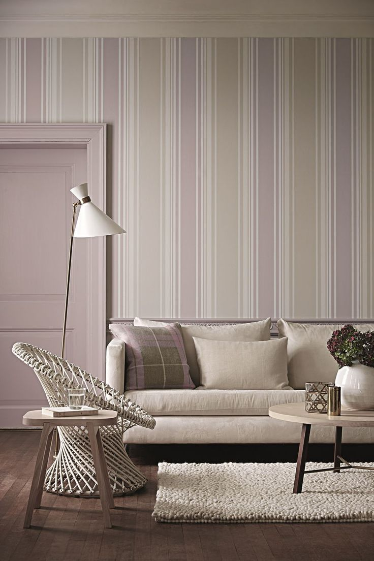 Wallpaper Designs For Living Rooms: Tented Stripe By Little Greene