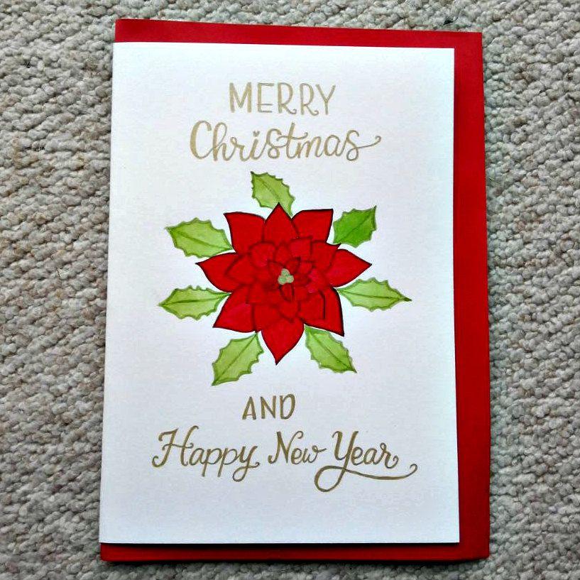Christmas. Watercolour Christmas Card. Hand Painted Cards. Handmade ...