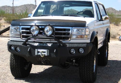 Iron Bull Front Bumper Ford 1992 96 Bronco 92 97 F Series Ford Bronco Bronco Winch Bumpers