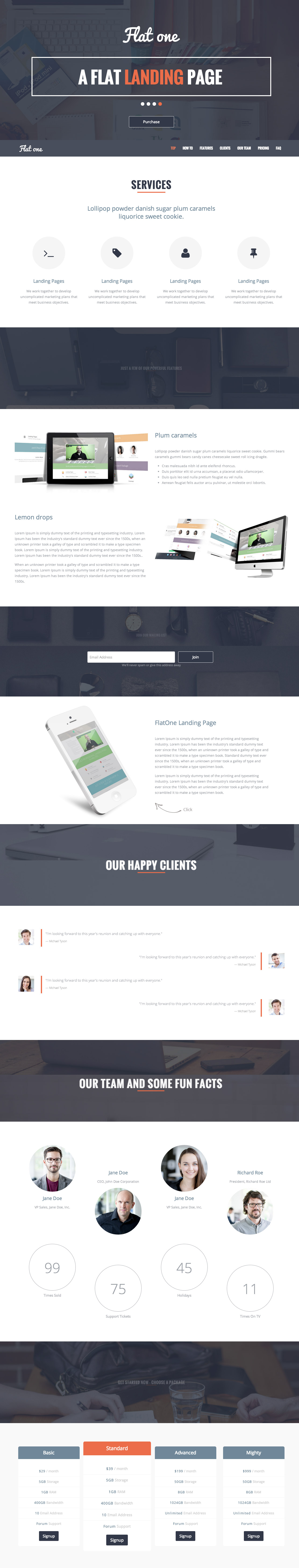 At $10, \'Flatone\' is a very affordable one page HTML template ...