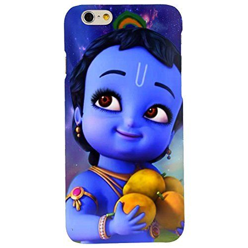 clapcart bal krishna printed mobile back cover for apple iphone 6